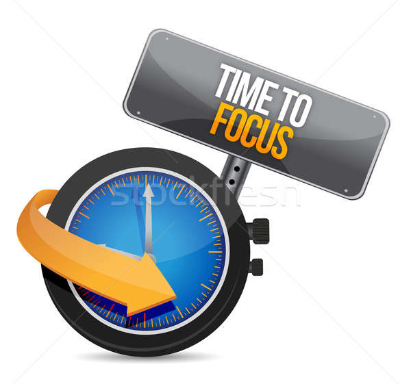 time to focus concept illustration design over white Stock photo © alexmillos