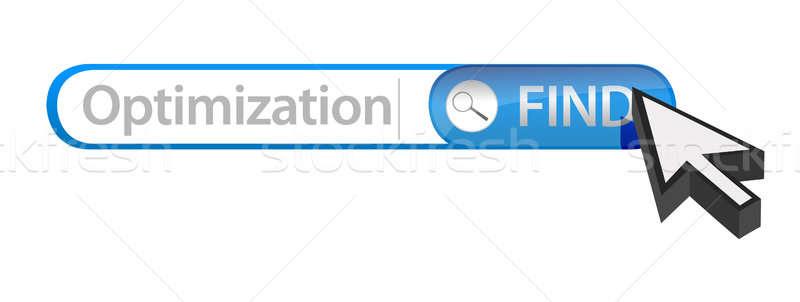Foto stock: Otimização · ilustração · projeto · branco · teia
