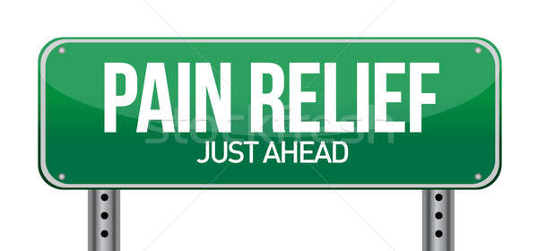 road traffic sign with a pain relief concept illustration design Stock photo © alexmillos