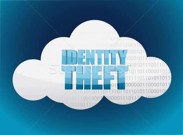 Identity theft Cloud glossy icon  Stock photo © alexmillos
