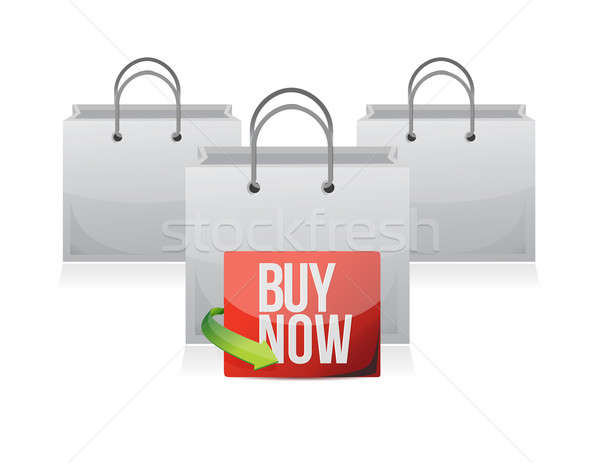 Buy now sign on a shopping bag Stock photo © alexmillos