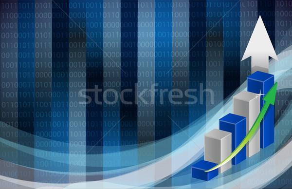 Binário gráfico de negócio abstrato bar financiar mercado Foto stock © alexmillos
