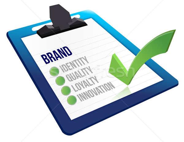 Brand core characteristics clipboard  Stock photo © alexmillos