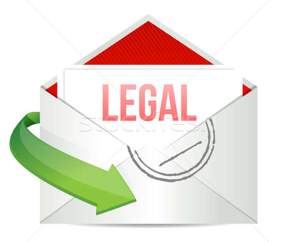 Legal Concept representing email  Stock photo © alexmillos