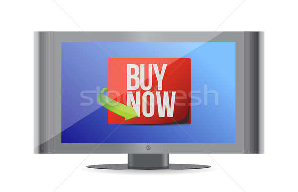 Buy now sign on a monitor. illustration design  Stock photo © alexmillos