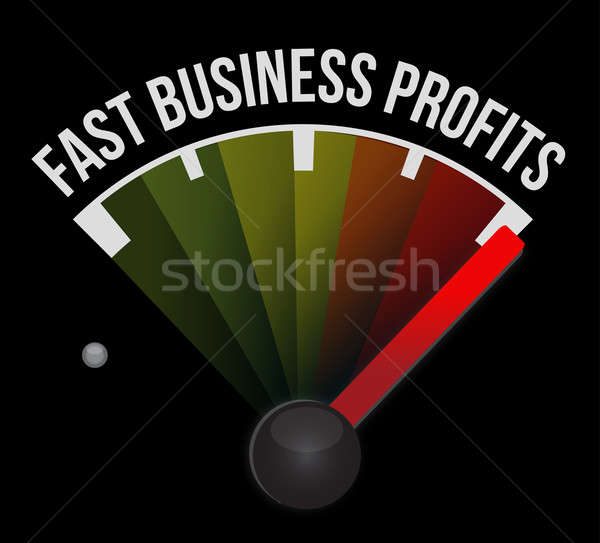 Fast business profits speedometer  Stock photo © alexmillos