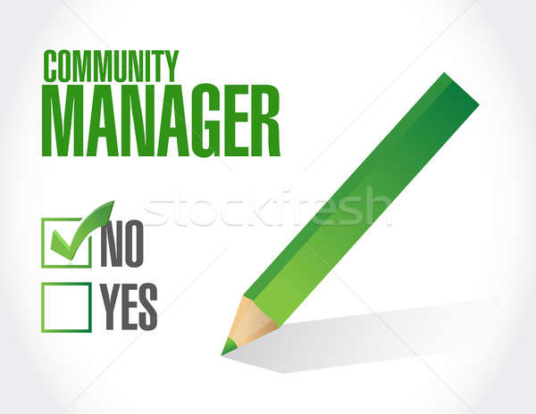 no Community Manager sign concept Stock photo © alexmillos