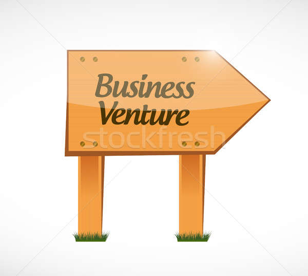 business venture wood sign concept Stock photo © alexmillos