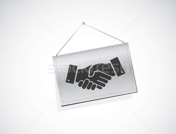 business agreement handshake banner sign concept Stock photo © alexmillos
