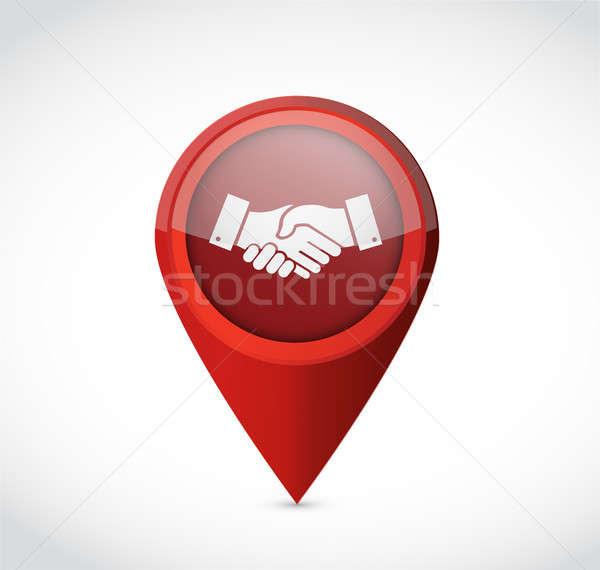 business agreement handshake pointer concept Stock photo © alexmillos