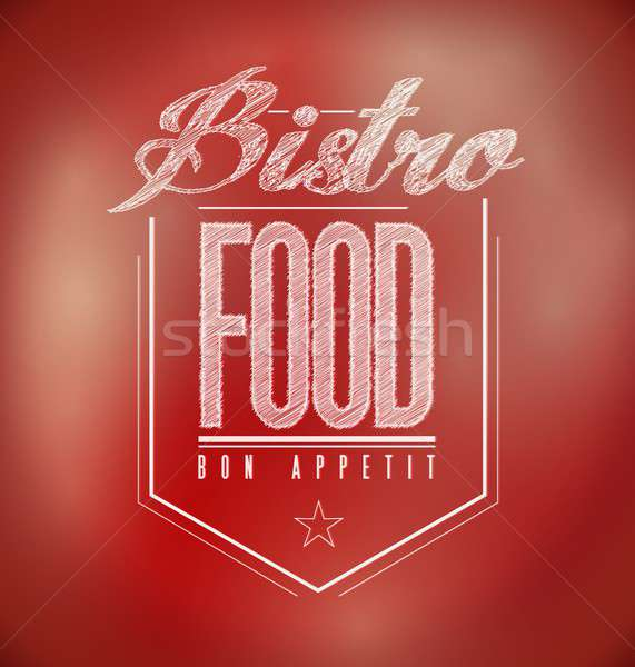 red Bistro Poster sign text banner Stock photo © alexmillos
