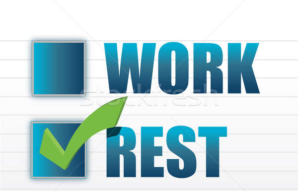 rest over work check mark selection illustration Stock photo © alexmillos