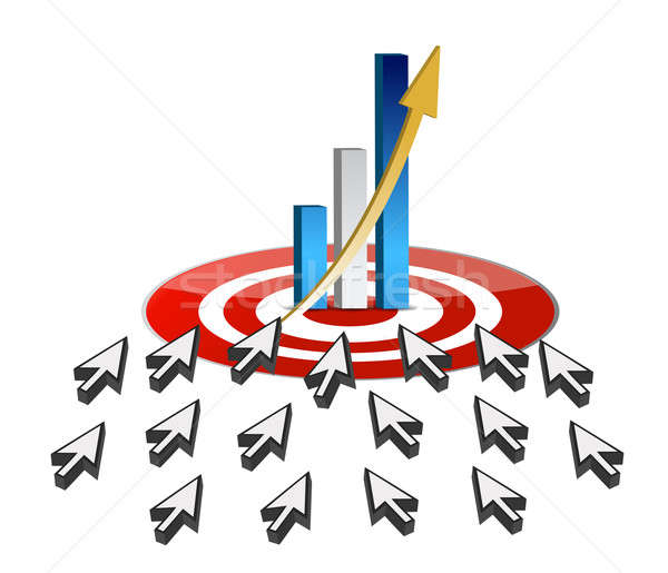 targeting business online success concept Stock photo © alexmillos
