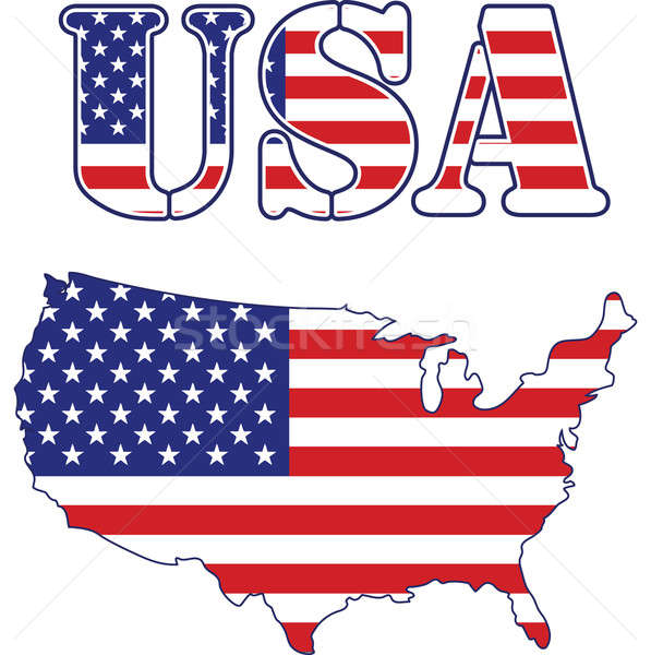 United States map and text. Stock photo © alexmillos