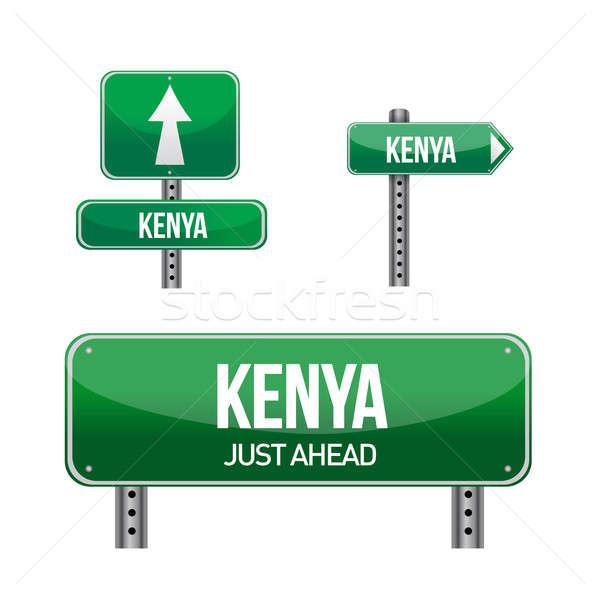 Kenia podpisania ilustracja projektu biały Zdjęcia stock © alexmillos