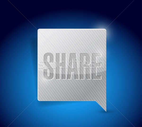 share social media button pointer illustration design graphic Stock photo © alexmillos