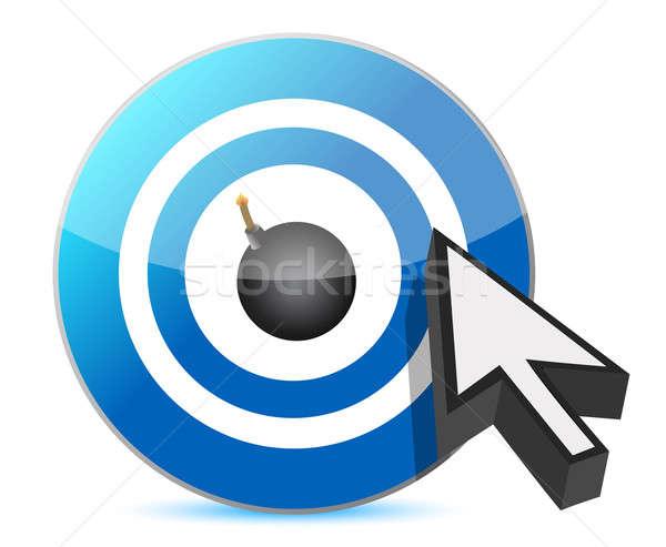 Célzás bumm illusztráció terv fehér felirat Stock fotó © alexmillos