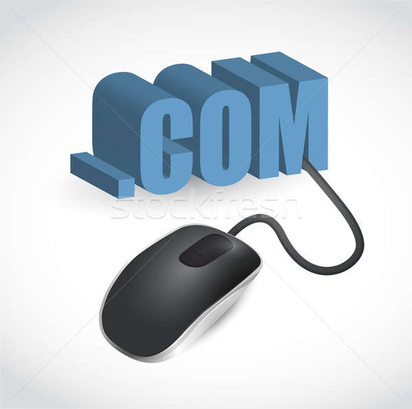 Bilgisayar fare metin Internet bilgisayar ışık imzalamak Stok fotoğraf © alexmillos
