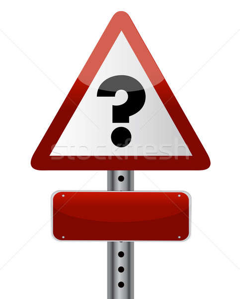 Question Sign illustration design over a white background Stock photo © alexmillos