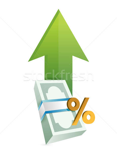 Percentage financial business graph Stock photo © alexmillos