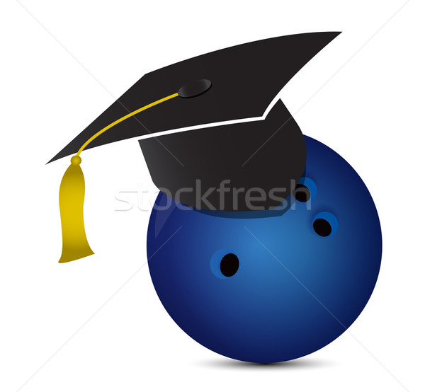 боулинг подготовки школы спорт студент мяча Сток-фото © alexmillos