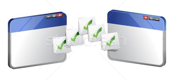 Transferring file concept Stock photo © alexmillos