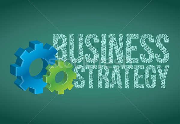 İş stratejisi beyaz tebeşir iş dizayn Stok fotoğraf © alexmillos