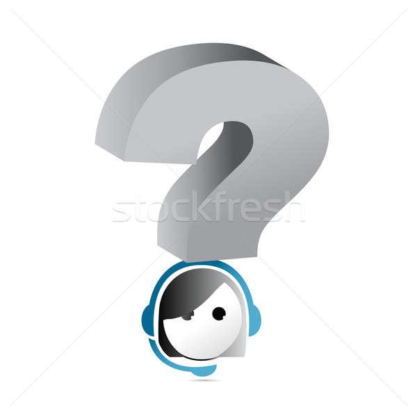 Kérdés ügyfélszolgálat illusztráció terv üzlet háttér Stock fotó © alexmillos