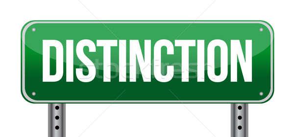 Placa sinalizadora estrada abstrato assinar verde quadro de avisos Foto stock © alexmillos
