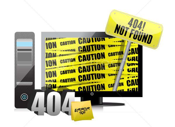 404 hata göstermek bilgisayar soyut teknoloji Stok fotoğraf © alexmillos