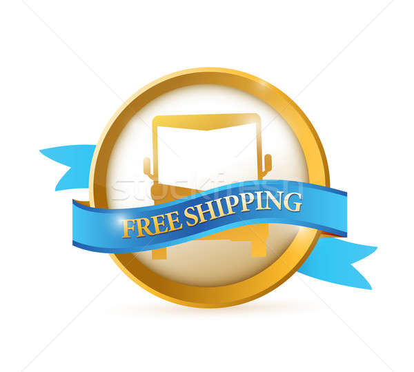 Free shipping seal illustration design Stock photo © alexmillos