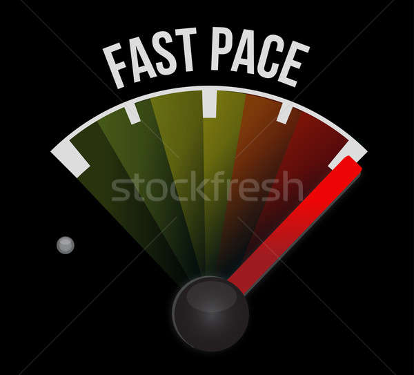 Rapide rythme indicateur de vitesse affaires travaux vert Photo stock © alexmillos