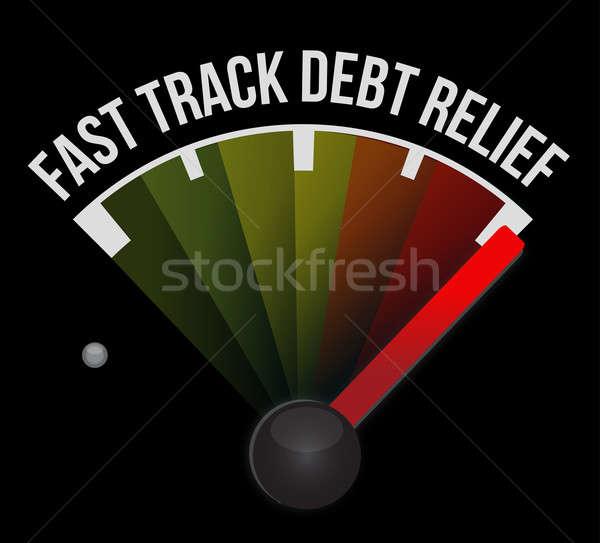 Fast track debt relief speedometer Stock photo © alexmillos