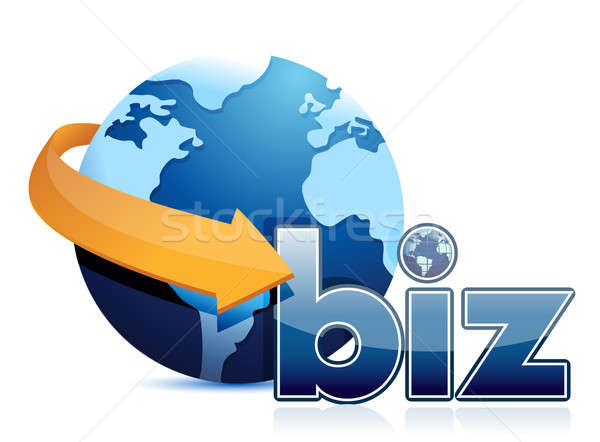 Globe arrow and business  Stock photo © alexmillos