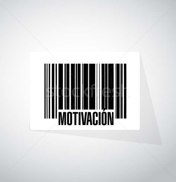 Motivation barcode sign in Spanish concept Stock photo © alexmillos