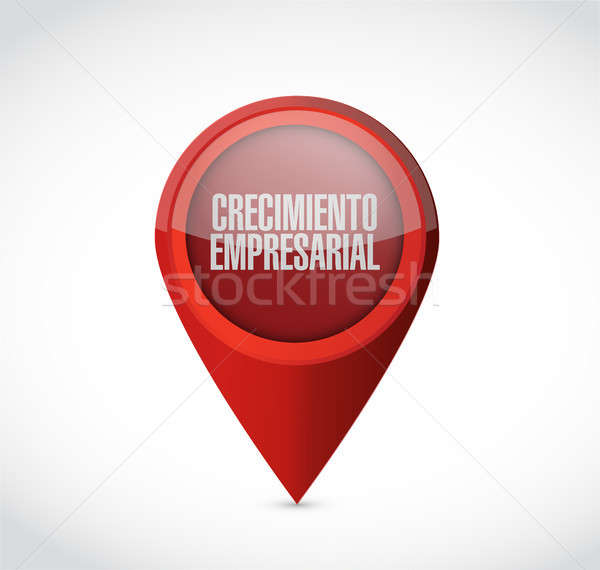 Business Growth pointer sign in Spanish. Stock photo © alexmillos