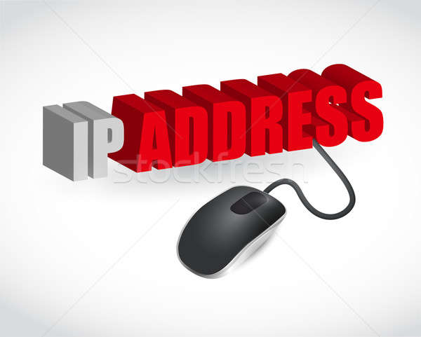 ip address sign and mouse illustration design Stock photo © alexmillos