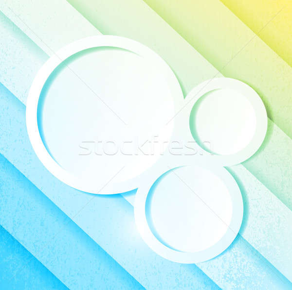 blue and yellow paper lines and circles Stock photo © alexmillos