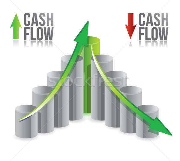 cash flow illustration graph over a white background  Stock photo © alexmillos