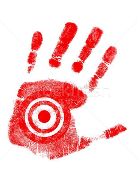 hand print with target symbol Stock photo © alexmillos