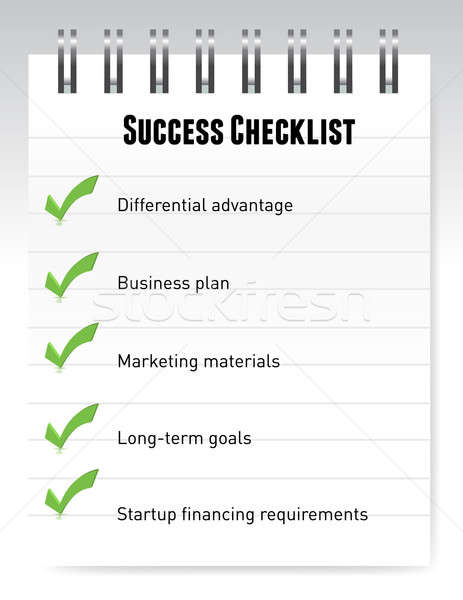 Success checklist notepad illustration design on white Stock photo © alexmillos