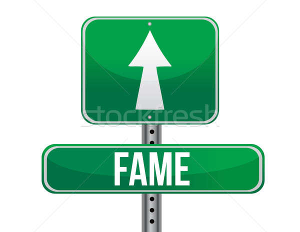 Stock photo: Fame road sign illustration design over a white background