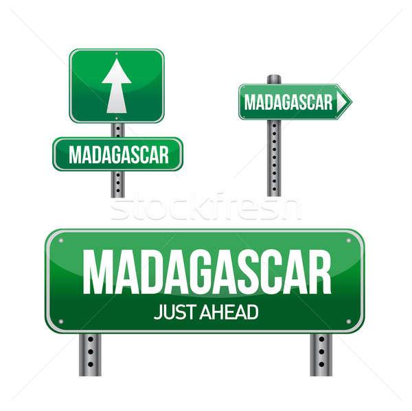 Madagascar signe illustration design blanche Photo stock © alexmillos