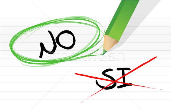 Evet İspanyolca örnek dizayn notepad Stok fotoğraf © alexmillos