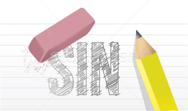 erase all sins illustration design over a notepad paper. Stock photo © alexmillos