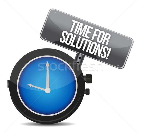 Photo stock: Temps · solutions · illustration · design · blanche · signe