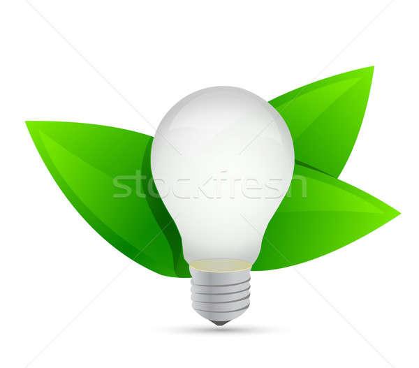 green eco energy concept. Idea growing illustration design Stock photo © alexmillos