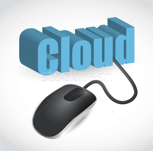современных синий Компьютерная мышь слово облако интернет мыши Сток-фото © alexmillos