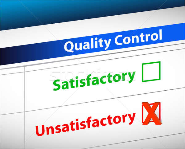 quality control Results business paperwork illustration design g Stock photo © alexmillos