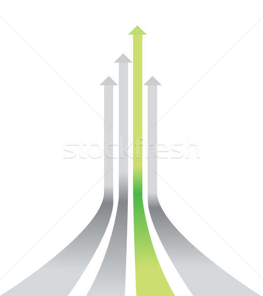 Stock photo: winner out of the pack illustration design over white